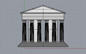 Parthenon Front Elevation