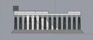Parthenon Right Elevation